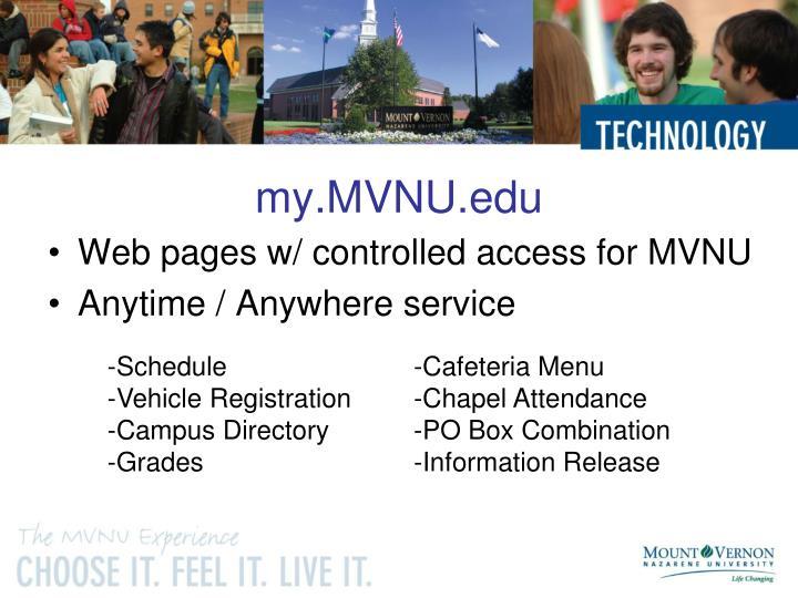 my.MVNU.edu