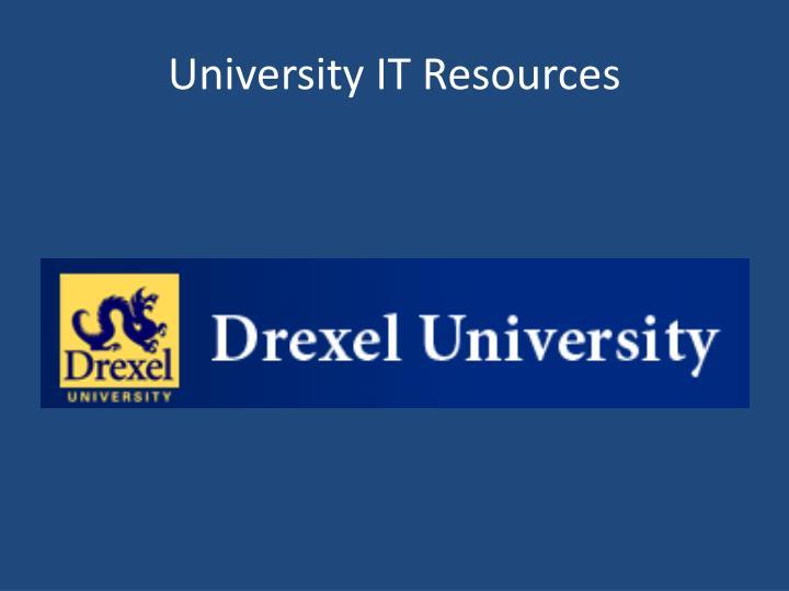 University IT Resources