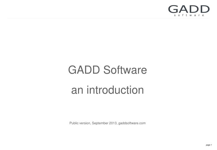GADD Software