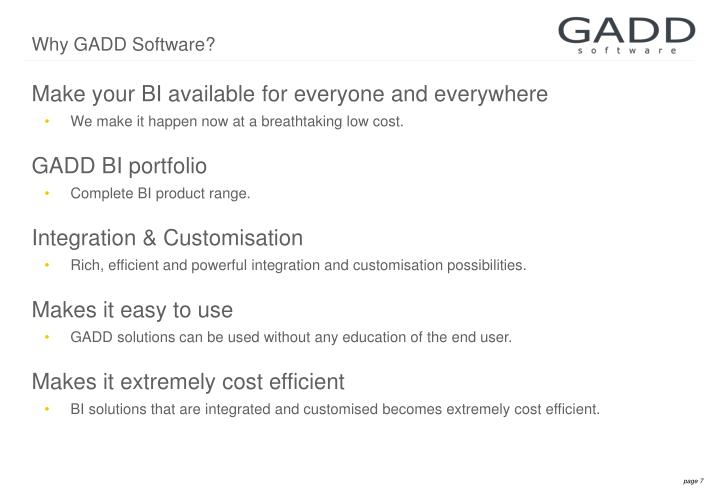 Why GADD Software?