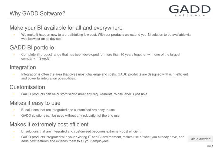 Why GADD Software?