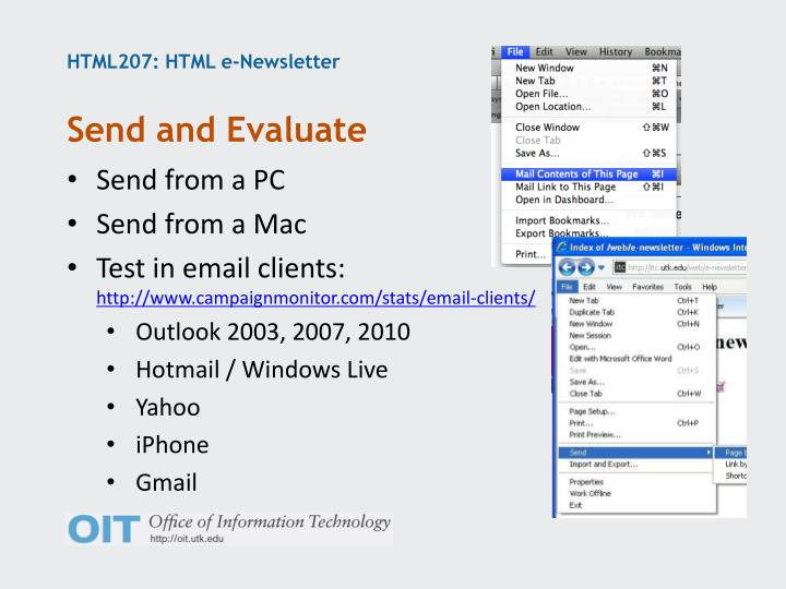 HTML207: HTML e-Newsletter