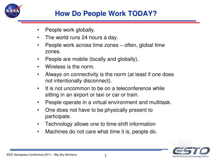 How Do People Work TODAY?