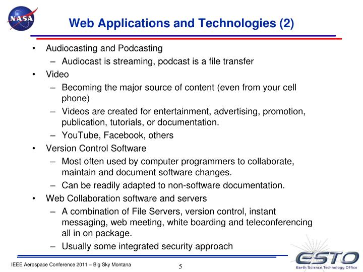 Web Applications and
