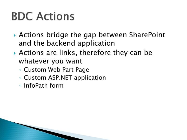 BDC Actions