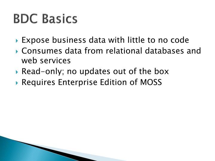BDC Basics