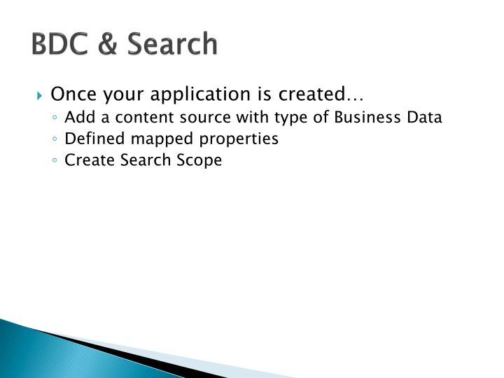 BDC & Search