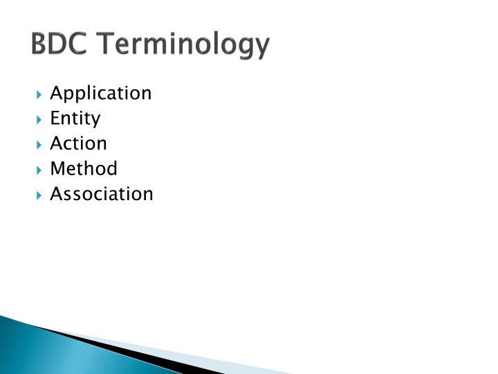 BDC Terminology