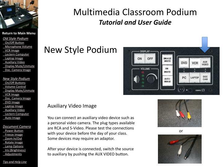 Multimedia Classroom Podium