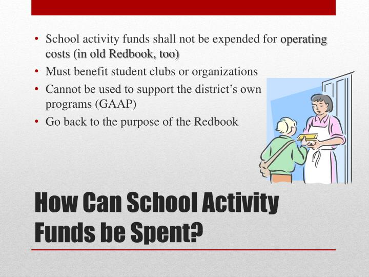 School activity funds shall not be expended for