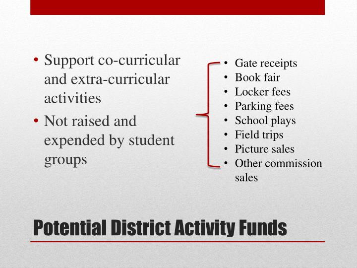 Support co-curricular and extra-curricular activities
