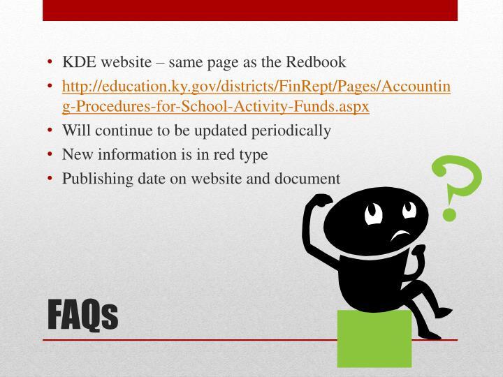 KDE website – same page as the Redbook