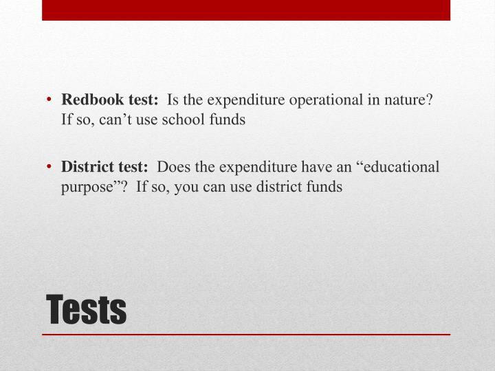 Redbook test: