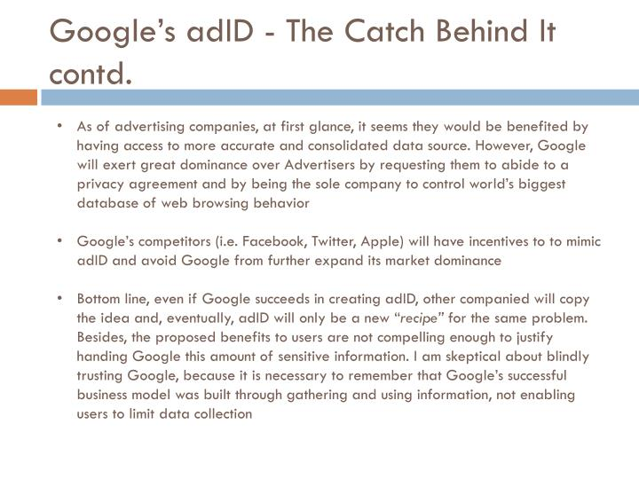 Google's adID - The Catch Behind