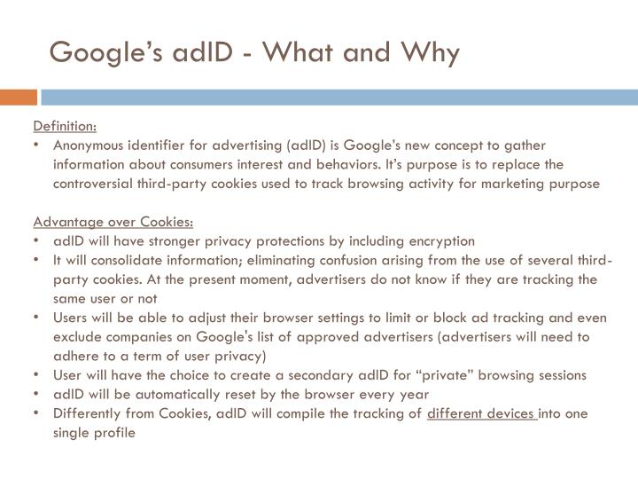 Google's adID - What and Why