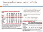 internet advertisement industry mobile trend1