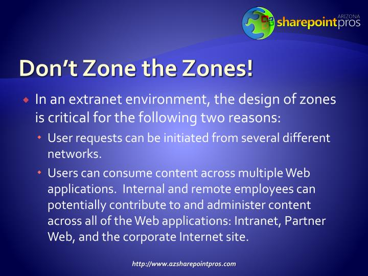 Don't Zone the Zones!