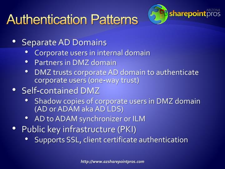 Authentication Patterns