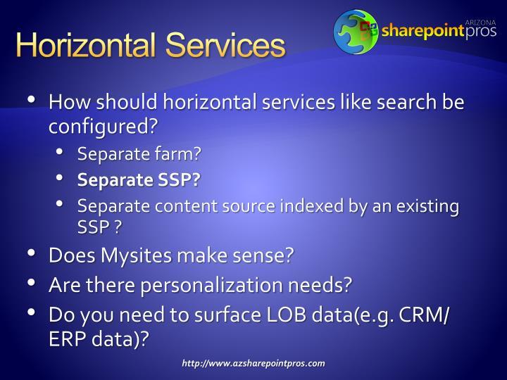 Horizontal Services