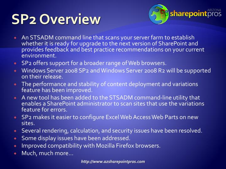 SP2 Overview