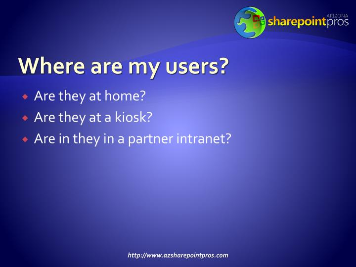 Where are my users?