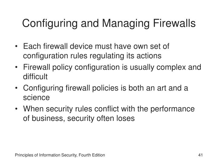 Configuring and Managing Firewalls