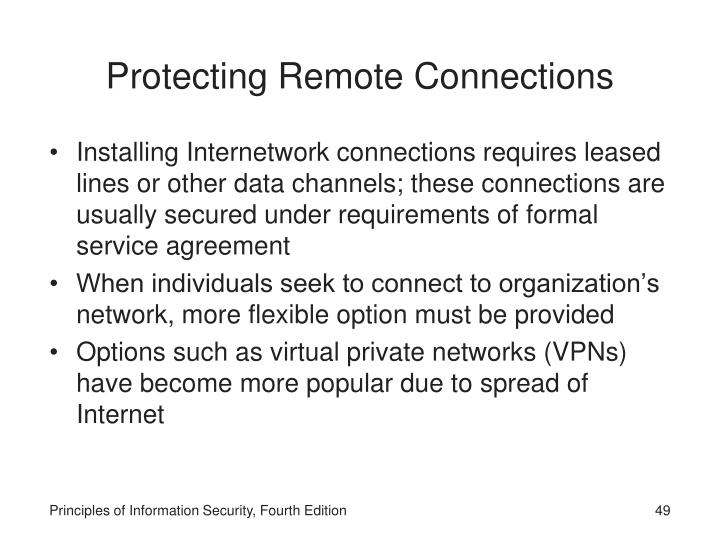 Protecting Remote Connections