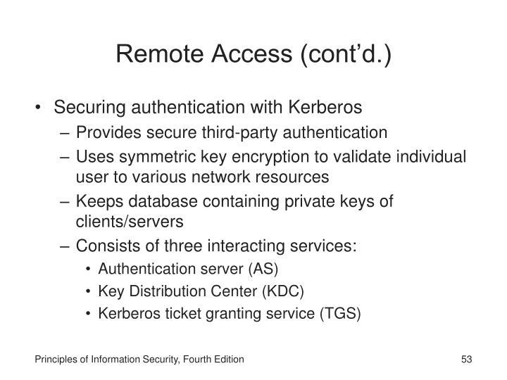 Remote Access (cont'd.)