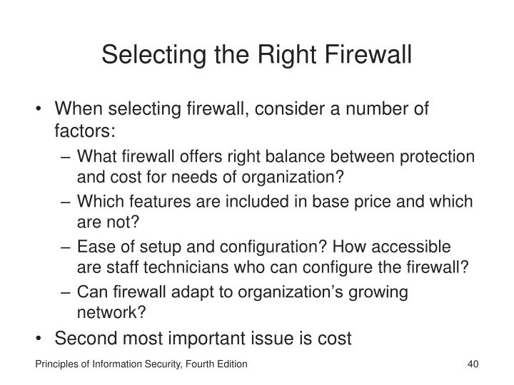 Selecting the Right Firewall