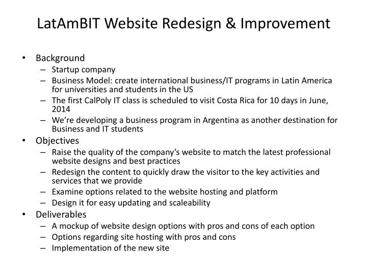 Latambit website redesign improvement
