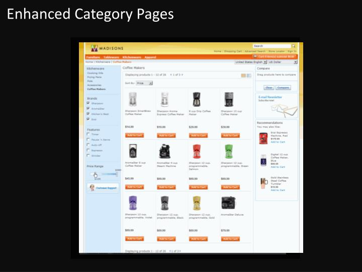 Enhanced Category Pages