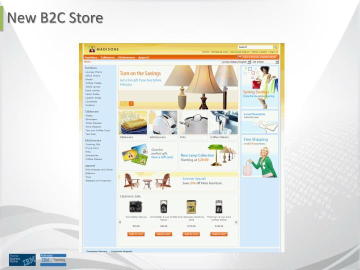 New B2C Store