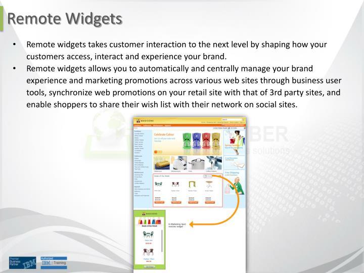 Remote Widgets