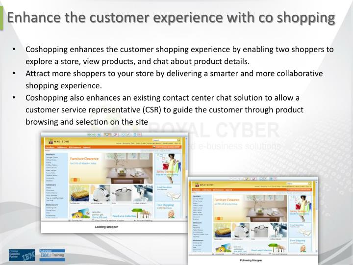 Enhance the customer experience with co shopping