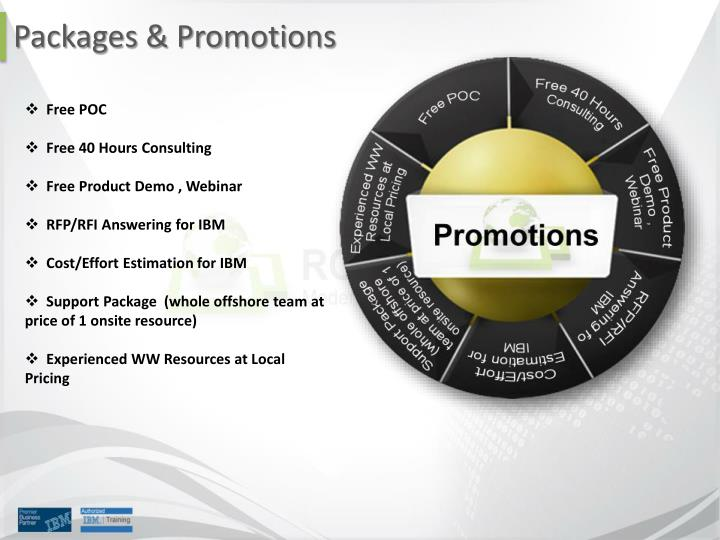 Packages & Promotions