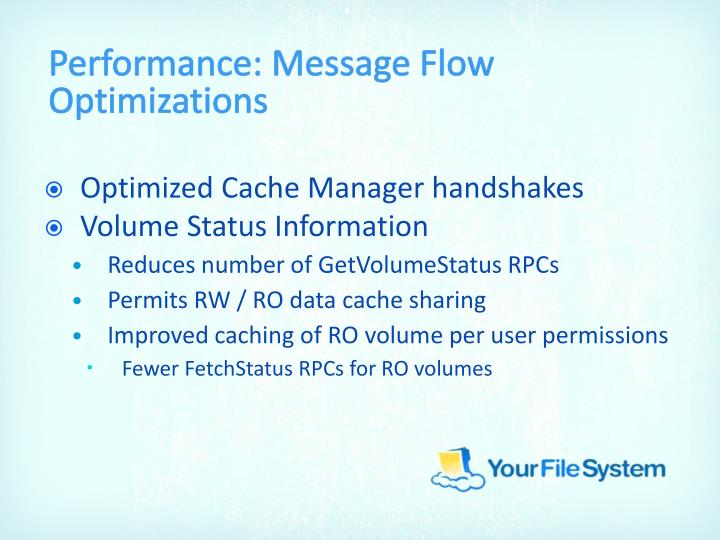 Performance: Message Flow Optimizations