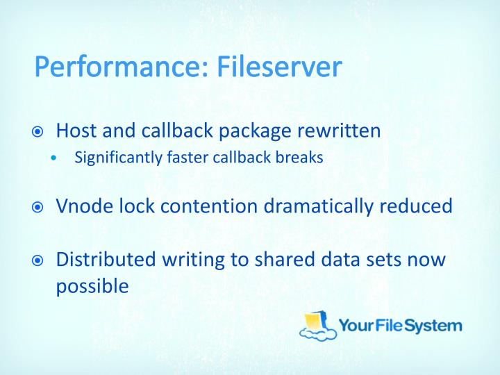Performance: Fileserver