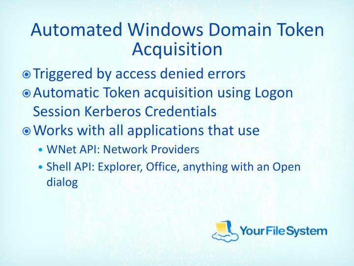 Automated Windows Domain Token Acquisition