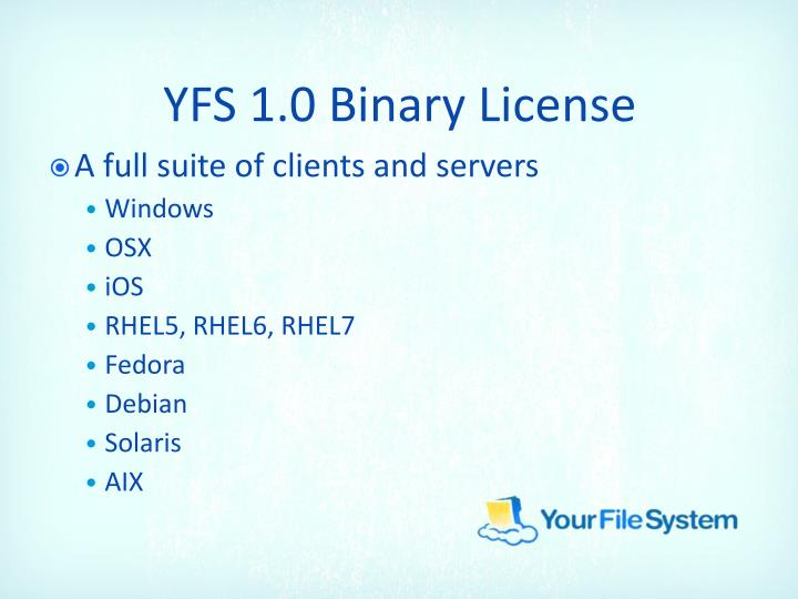 YFS 1.0 Binary License