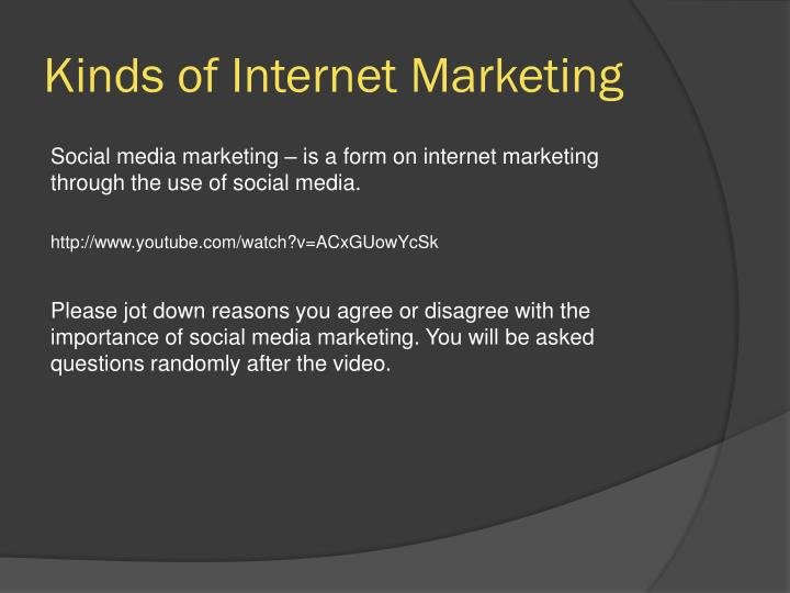 Kinds of Internet Marketing