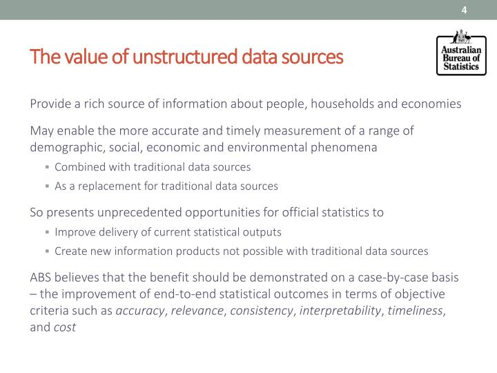The value of unstructured data sources