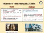 exclusive treatment f acilities