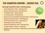 the diabetes centre needs you1