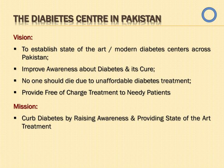 THE DIABIETES CENTRE IN PAKISTAN