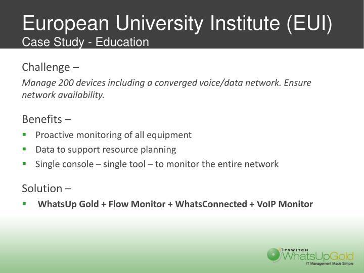 European University Institute (EUI)