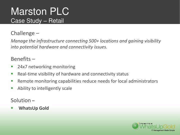 Marston PLC