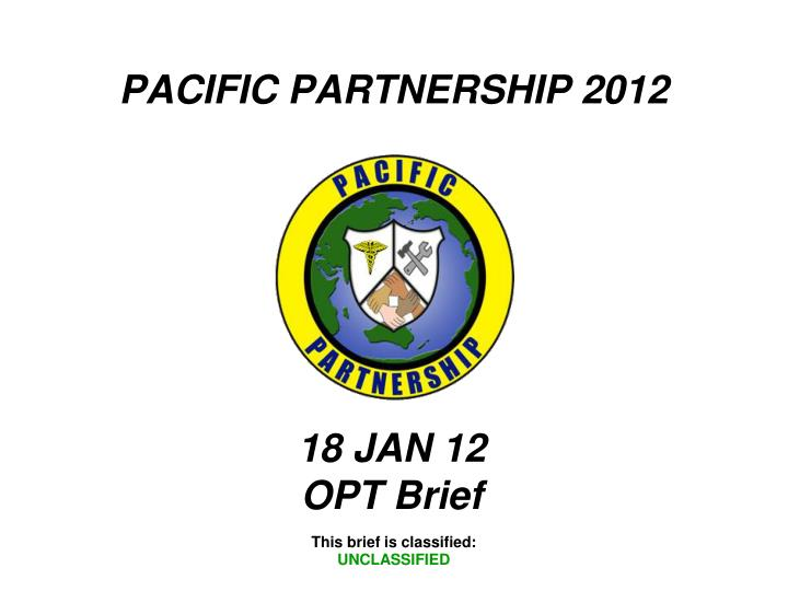 PACIFIC PARTNERSHIP 2012