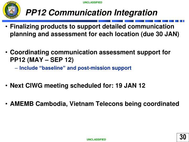 PP12 Communication Integration