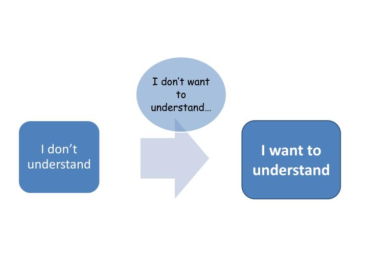 I want to understand