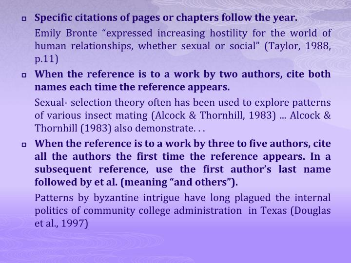 Specific citations of pages or chapters follow the year.